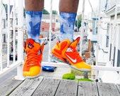 Unisex Tie Dyed Tube Socks
