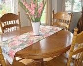 Vintage  Chic Table Runner  Floral Blossom Handmade