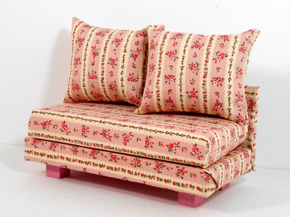 Doll Furniture Sofa Couch Florals Barbie