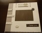 Pre-made Wedding Album Scrapbook