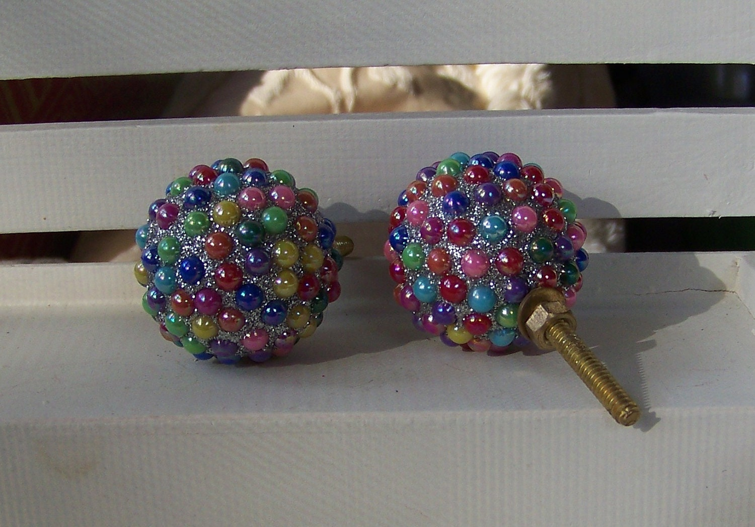 Multi Color Dresser Knob Drawer Pull Whimsical Home Decor