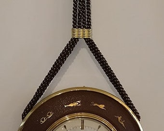 Mid Century Hanging Zodiac Clock, Junghans, Germany, ca 1950s