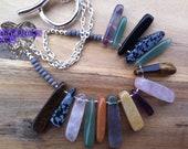 For Kim - Urban Tigress tribal stone necklace with CUSTOM SHORTER LENGTH