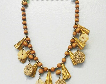 Vintage Safari African inspired necklace
