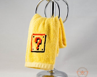 Super Mario Bros. Question Block Inspired - Embroidered Hand Towel