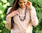 RESERVED FOR A CLIENT. Nude color vintage blouse
