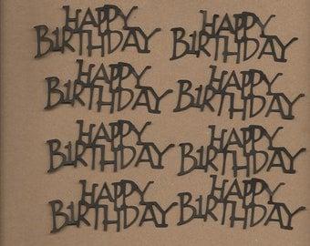8- 1.5 inch tall Happy Birthday Cricut Die Cut