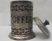 Vintage Silver Plated Coffee Canister