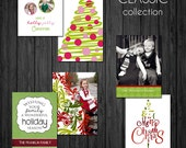 Classic 5x7 Christmas Card Template Set -  .PSD files - Christmas Collection - Simply Classic- cct BTS