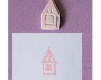 House Hand Carved Rubber Stamp no.9 - handmade rubber stamp, handcarved rubber stamp, hand carved stamp, handmade stamp, handcarved stamp