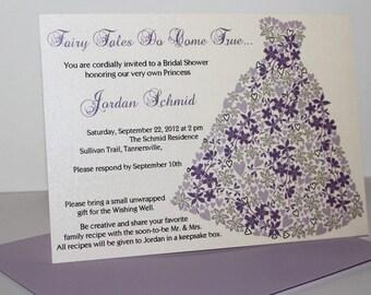 Dreams Do Come True Dress Bridal Invitation