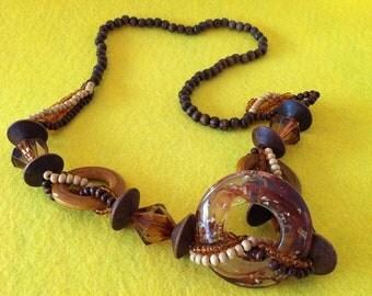 Vintage Medallion Beads Fantasy Necklace