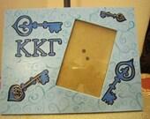 Kappa Kappa Gamma 4x6 Hand Painted Picture Frame