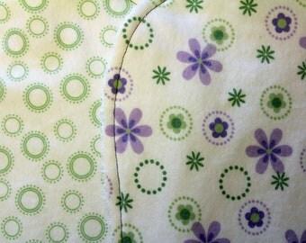 CLEARANCE - Purple Flowers Burp Cloths