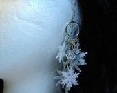 Winter Wonderland Glitter Snowflake Earrings