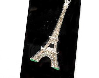 1 pc Silver Rhinestone Eiffel tower Decoden piece