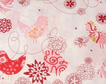 Starling in Natural pinks Alexander Henry Fabric- 1 Yard