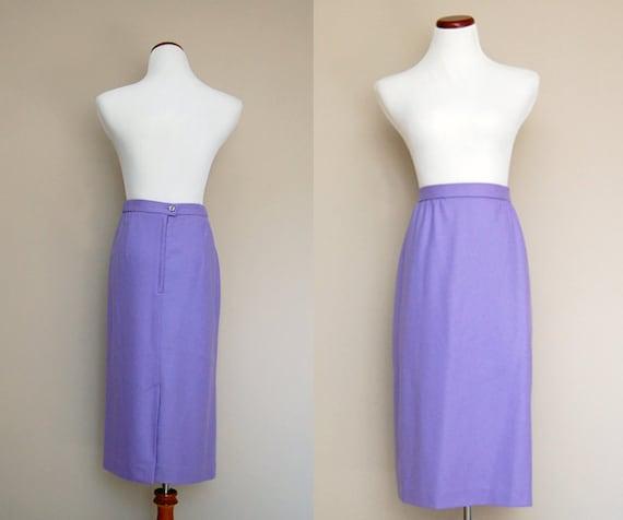Plus Size Skirt / Lavender Plus Size / Vintage 80s