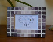 Shades of Purple Mosaic Tile Picture Frame