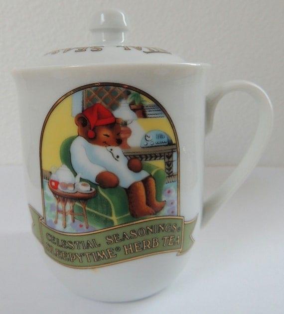 Celestial Seasonings Sleepytime Time Herb Tea Cup With Lid Perfect Sugar Jar