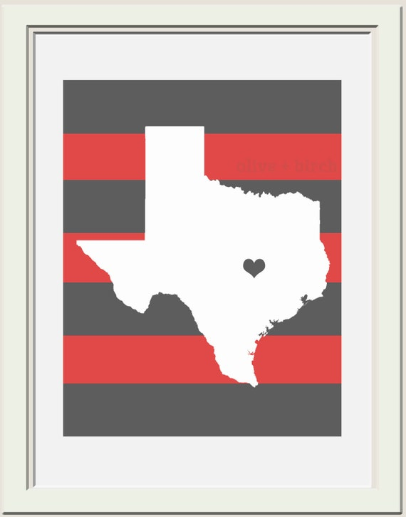 Custom State or Country Printable
