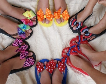 Shelbows Flip Flops also available with Matching Hair Bow