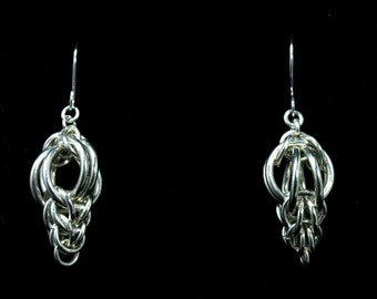 """Chainmaille Earrings """"Get the Point Persian"""" - Silver Lion Jewelry"""