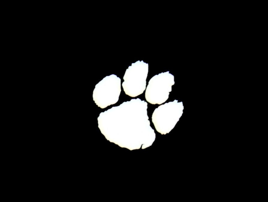 tiger paw vinyl decal your choice of vinyl  u0026 color