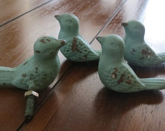 Bird Knobs/ Bird Drawer Knobs / Drawer Pulls/ Shabby Chic/ Rustic/ Cupboard Knobs/ Drawer Handles/ Nursery
