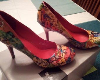 Red Marvel Comic Heels