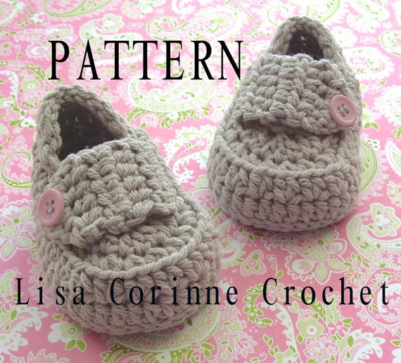 Crochet Pattern For Baby Lovey : Baby Loafers PATTERN Baby Booties Crochet PATTERN Infant