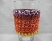 Coffee Cozy Crochet Fall Multi Color