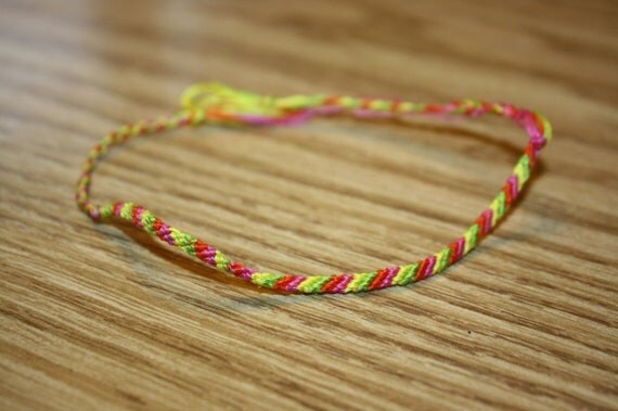 string bracelet right wrist items similar to handmade 4 string multi colored 9129