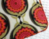 Fleece Blanket with Decorative Serged Edge Personalization Available