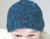 Baby boys Newborn Elf Hat  navy baby hat chunky knit hat  Photo Prop Hat