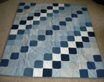 Custom Made Denim Quilt