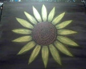 Sunflower Original Abstract Hand Painted on Canvas 16x20 Wall Art by CEE / Owner of ArtCee Gallery
