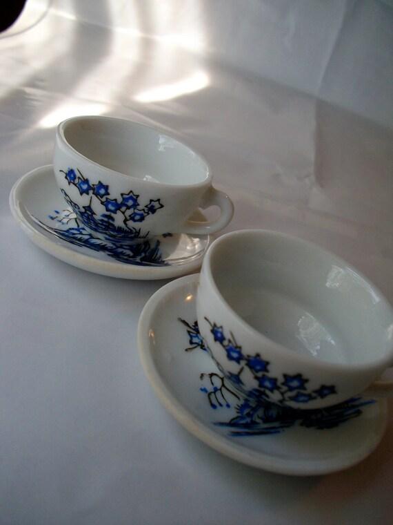vintage little girl 39 s china tea set incomplete. Black Bedroom Furniture Sets. Home Design Ideas
