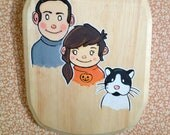 "OOAK fun, ""Family Portrait"" Illustration- Made to Order"