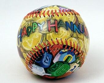 Hannukah Baseball, Hannukah Gift, Chanukah Gift, Baseball Gift (HB07)