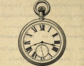 Old Fashioned Antique Pocket Watch Digital Image Download Printable Graphic Vintage Clip Art for Transfers Printing etc No.1716