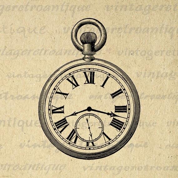 pocket watch clipart - photo #39