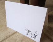 Emily & James Artsy Swirl Personalized Thank You Note
