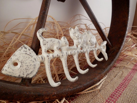 Cast Iron Vintage Inspired Hand Painted Wall Decor Hooks