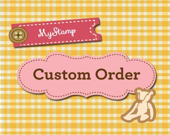"UPGRADE to a 1.5"" x 2"""" traditional rubber stamp (R601)"