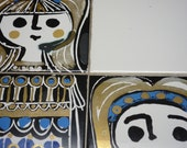 Vintage Tiled Panel by Jean Powell 1960s
