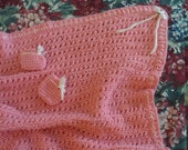 Cross Stitch Baby Blanket with Booties --- FREE SHIPPING