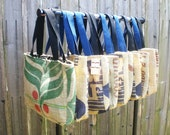 "RECYCLED ""Cafes Do Brasil"" Coffee Bean burlap sack into a Tote or Purse"
