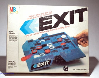 Exit Shifting Strategy Game from Milton Bradley 1983 (read description)