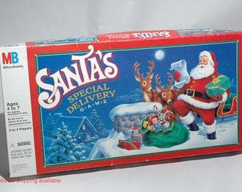 Santa's Special Delivery Christmas Game Milton Bradley 1989 COMPLETE (read description)